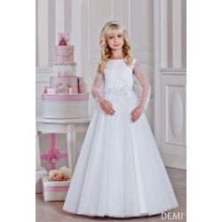 Handmade Long Sleeves First Holy Communion Dress Style DEMI BIS