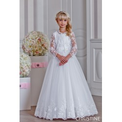 Beautiful Handmade First Holy Communion Dress & Bolero Style CHRISTINE