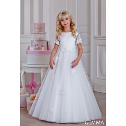 Handmade Floral First Holy Communion Dress Style GEMMA