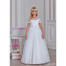 Handmade Floral First Holy Communion Dress Style HELEN