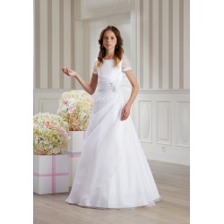 Lovely Pleated Handmade First Holy Communion Dress Style DONATA