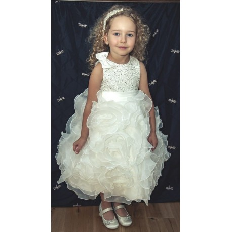 Ivory Sevva Flower Girl Dress Style PRINCESS