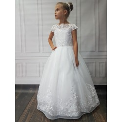 Beautiful Handmade First Holy Communion Dress Style LEONA