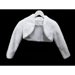 First Holy Communion Bolero Style FUR BOLERO