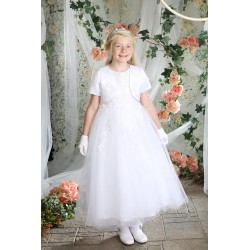 Richly Decorated Communion Dress with Bolero style Franchesca