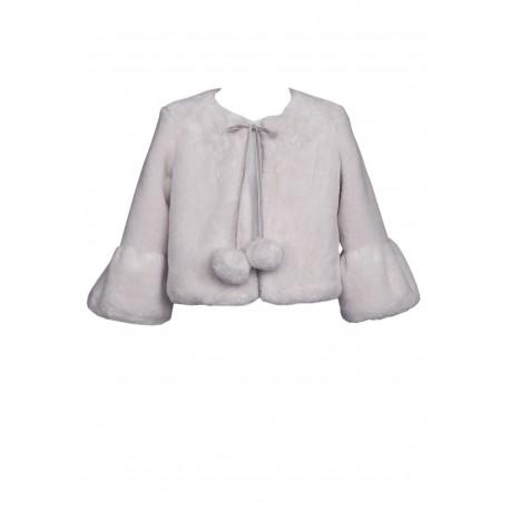 Gray Faux Fur Bolero Style 36/B/J17