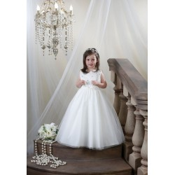 Ivory Long Special Occasion/Communion Dress Style HM001
