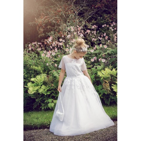 Beautiful Handmade First Holy Communion Dress Style ROSARIO