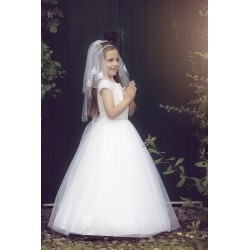 Beautiful Handmade First Holy Communion Dress Style YVONNE