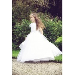 Beautiful Handmade First Holy Communion Dress Style EVELINE