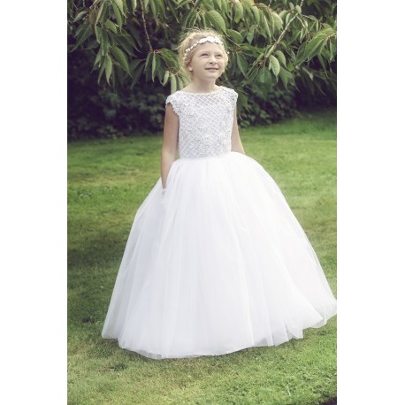 Beautiful Handmade First Holy Communion Dress Style ABIGAIL