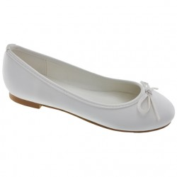 White Leather First Holy Communion/Special Occasion Shoes Style 910