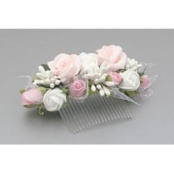 White/Green/Pink Communion Headdress Style WS-009