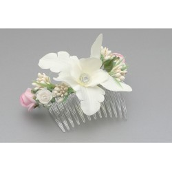 Ivory/Green/Pink First Holy Communion Headdress Style WS-029