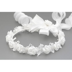 White First Holy Communion Headdress Style W-055 Bis