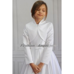 White Satin First Holy Communion Bolero Style CB014