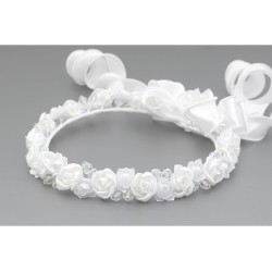 White First Holy Communion Headdress Style W-077