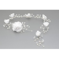 Lovely Communion /Special Occasion Headpiece with Crystals and Roses style WG-008