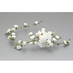 White/Green First Holy Communion Headdress Style WG-025
