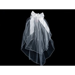White First Holy Communion Veil Style CV164