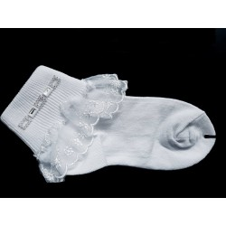 White First Holy Communion Socks Style CSK007