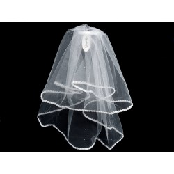 White First Holy Communion Veil Style CV158