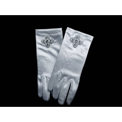 White First Holy Communion Gloves Style 796
