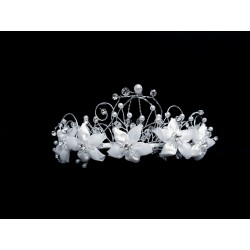First Holy Communion White/Silver Tiara Style 3693