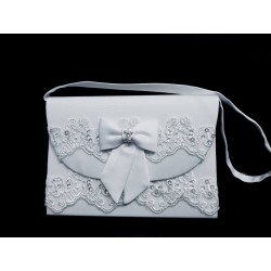 White First Holy Communion Handbag Style CB080