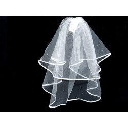 White First Holy Communion Veil Style 1981