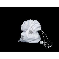 Satin White First Holy Communion Handbag Style 6014