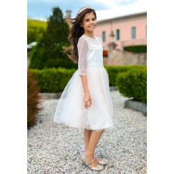 Salmon&Ivory Confirmation Dress Style 7C/SM/19