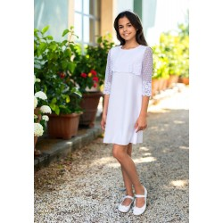 White Lace Confirmation Dress Style 8A/SM/10