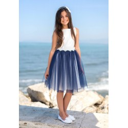 Navy/Ivory Confirmation/Special Occasion Dress Style 11E/SM/19