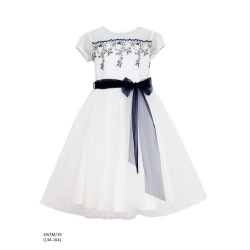 Ivory/Navy Confirmation Dress Style 29/SM/19