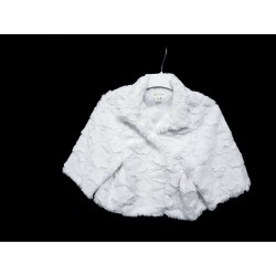 White First Holy Communion/Special Occasion Fur Cape Style CB016