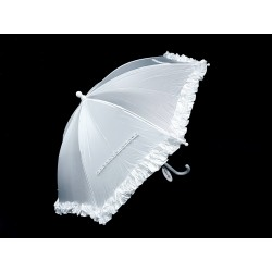 Satin White First Holy Communion Parasol Style CU506