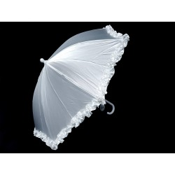 Satin White First Holy Communion Parasol Style CU505