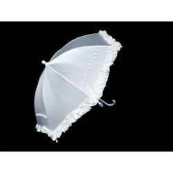 White Satin First Holy Communion Parasol Style CU507