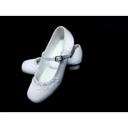 Satin First Holy Communion Shoes Style 5817