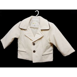 Ivory/Brown Christening/Special Occasion Jacket Style J007