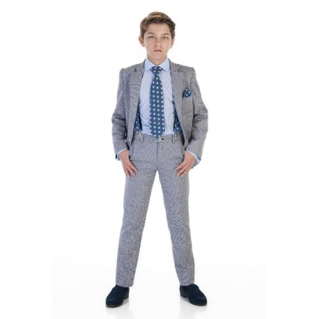 2 Piece Elegant Grey/Navy First Holy Communion/Special Occasion Suit Style 10-03032