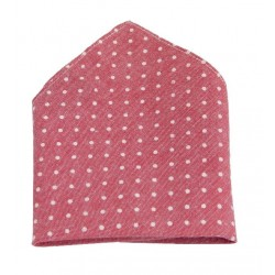 Light Red Polka Dots Holy Communion/Special Occasion Handkerchief Style 10-08013D