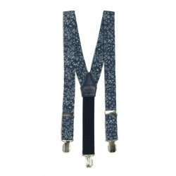 Navy Flowers Holy Communion/Special Occasion Suspenders Style 10-09009BE