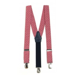 Light Red Polka Dots Holy Communion/Special Occasion Suspenders Style 10-09009D