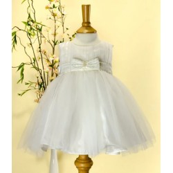 Special Occasions Ivory Tulle Baby Dress with Sequinned Sash Cindy by Sevva