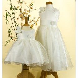 Sevva Baby Girl Christening/Flower Girls Dress and Headband in Ivory Style PC8781Bs