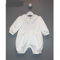 White Christening Baby Boy Romper Style 2009-4