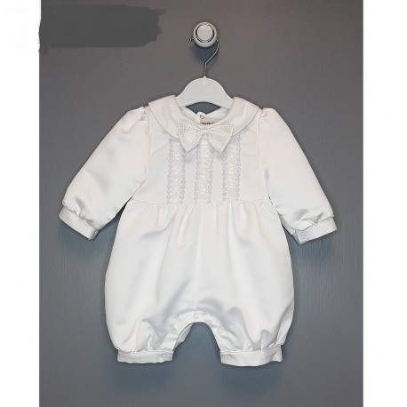 New White Christening Baby Boy Romper Style 2009-4 275ce22a3