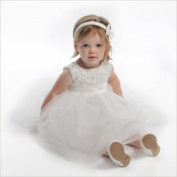 Ivory Seeva flower girl /Christening dress Style pc1025